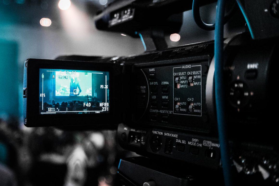 a playing video camera