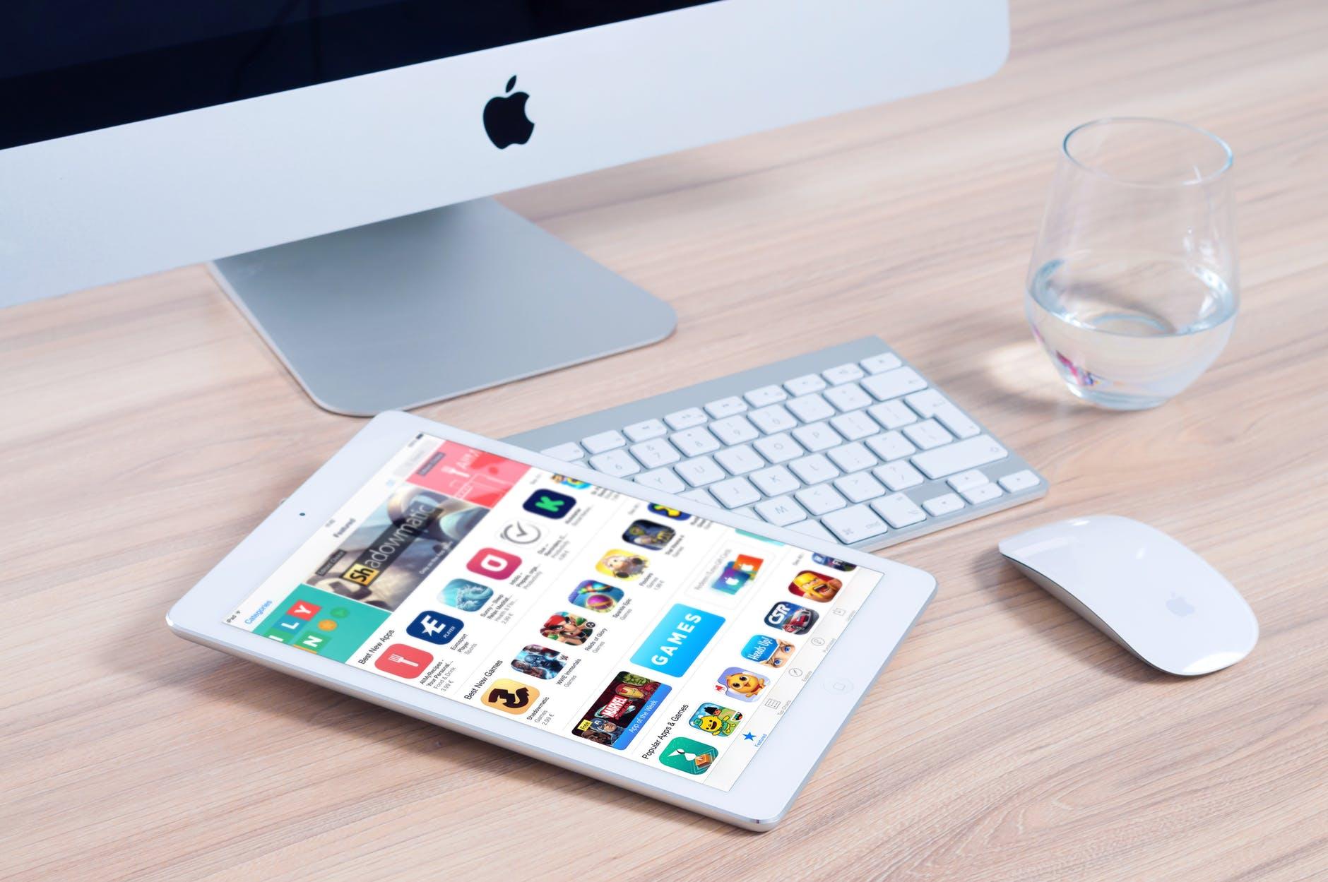 mac book and an ipad